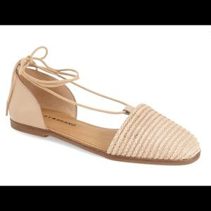Lucky Brand | Beige Leather Flats | Size 8.5